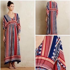 Anthro One September Laftan Caftan Maxi Dress